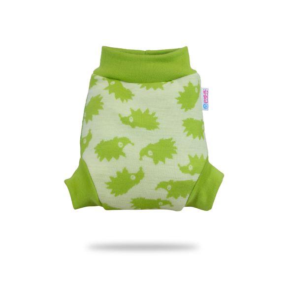 II. jakost Zelení ježci - vlněné svrchní kalhotky S - kaz na látce (oko)