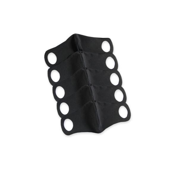 Komfortní rouška s drátkem 5 ks S černá