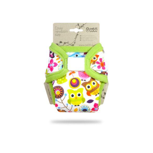 II. Jakost Veselé sovičky - novorozenecké svrchní kalhotky -  dírka pod patentem