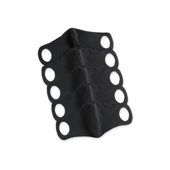 Komfortní rouška s drátkem 5 ks L černá