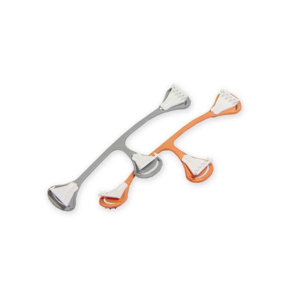 Snappi sponka 2 ks (oranžová, šedá)