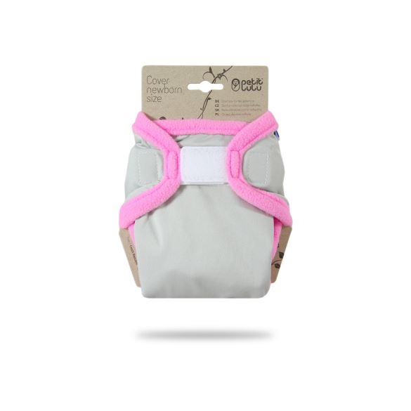 Šedé (růžová) - novorozenecké svrchní kalhotky