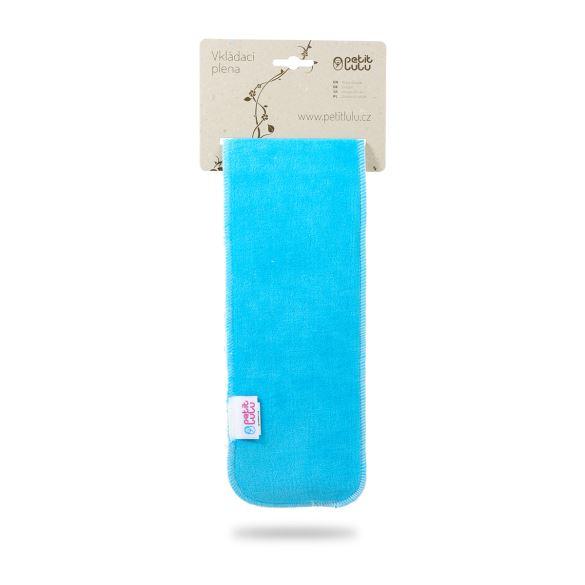 Modro-tyrkysová vkládací plena dlouhá