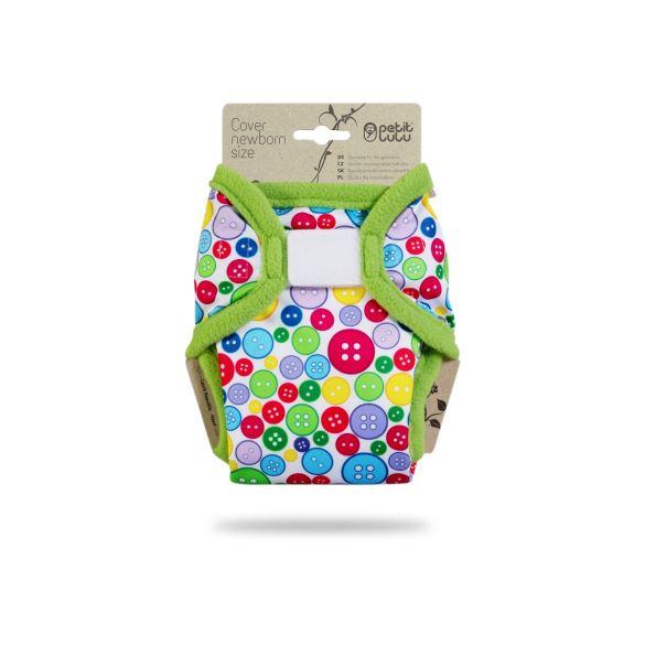 Sbírka knoflíků (zelený lem) - novorozenecké svrchní kalhotky