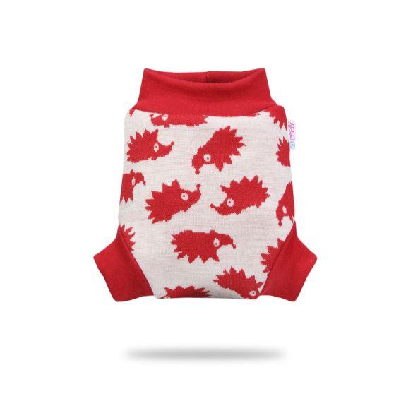 Červení ježci - vlněné svrchní kalhotky