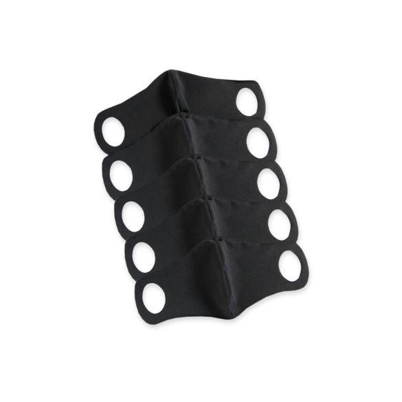 Komfortní rouška s drátkem 5 ks M černá