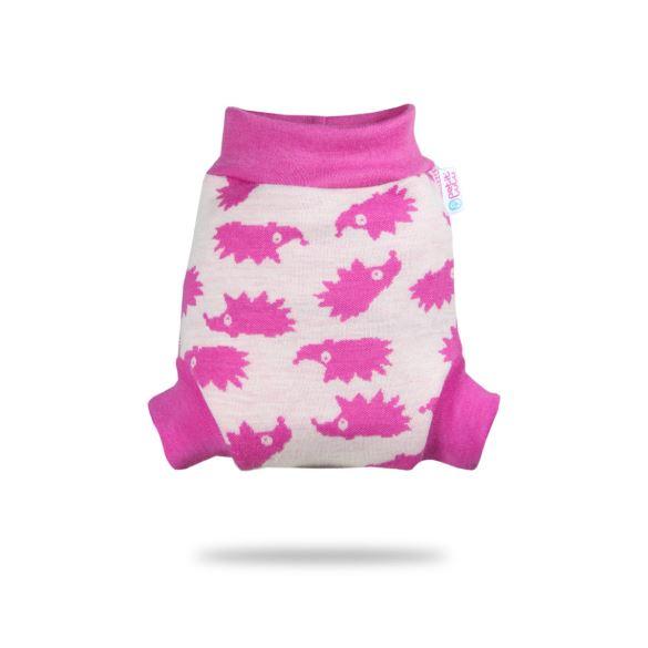II. jakost Růžoví ježci - vlněné svrchní kalhotky - S - kaz na látce